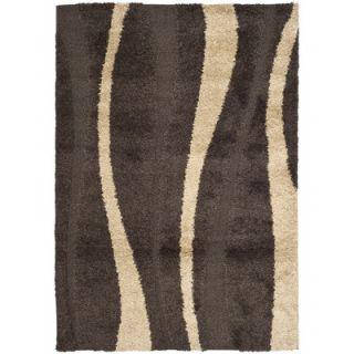 Safavieh Florida Shag Dark Brown/Beige Rug   SG451 2813