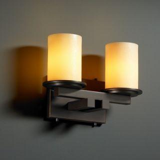 Justice Design Group CandleAria Dakota Two Light Bath Vanity   CNDL