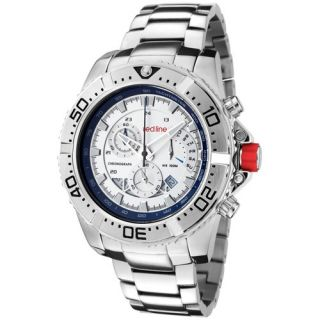 Red Line Mens Compressor Chronograph Silicone Round Watch   18102