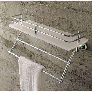Toscanaluce by Nameeks White Plexiglass Shelf with Rail and Towel Rack