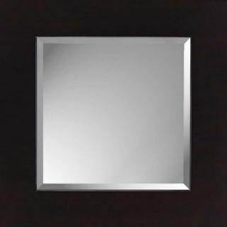 Paragon Espresso Block Contemporary Black Wall Mirror
