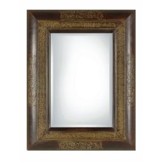 Uttermost Palesa Rectangular Beveled Mirror in Rustic Black and Brown