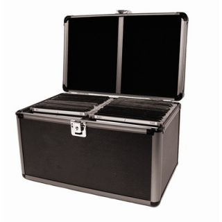 Aluminum Like Hard CD Case in Black   200 Disc Capacity
