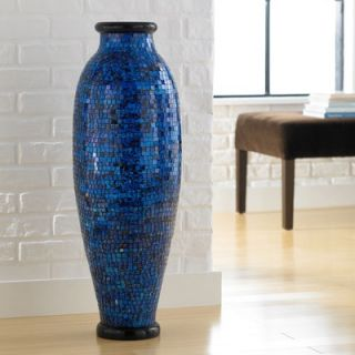 PoliVaz Mosaic Ocean Blue Round Floor Vase   DV MOS LL M BLU