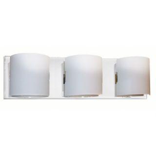 Dainolite Frosted Glass Three Light Contemporary Bath Vanity in