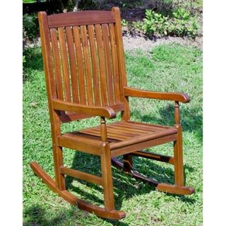 International Caravan Acacia Patio Traditional Porch Rocking Chair