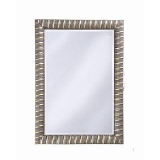 Howard Elliott Pharaoh Wall Mirror in Silver Leaf