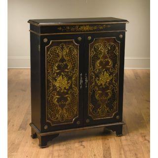 AA Importing Two Door Cabinet in Black   49088 BK