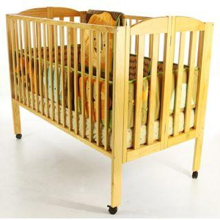 Dream On Me Folding Full Size Crib, Natural