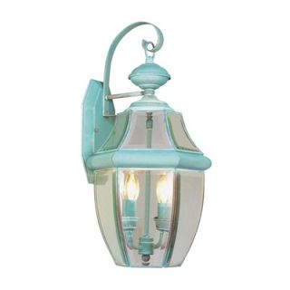 Livex Lighting Monterey Outdoor Wall Lantern in Verdigris   2251 06