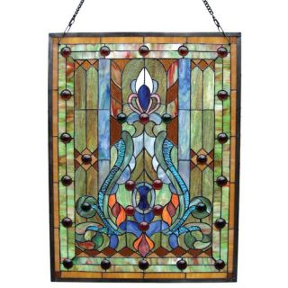 Chloe Lighting Tiffany Style Birds Design Window Panel with 47