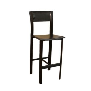 Quilted Faux Leather Adjustable Height Bar Stool in White   211 851