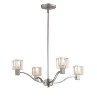Access Lighting Astor 4 Light Chandelier with Crystal Glass   23835