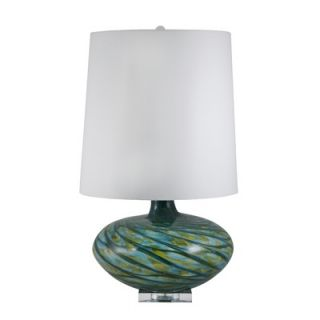 Lamp Works Recycled Glass Cylindrical Table Lamp in Blue