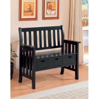 Wildon Home ® Whiteson Wooden Entryway Storage Bench   411186 /