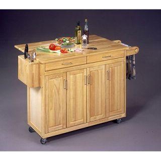 Crosley LaFayette Stainless Steel Top Portable Kitchen Island in