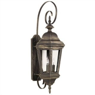 Kenroy Home Estate Large Wall Lantern in Antique Patina
