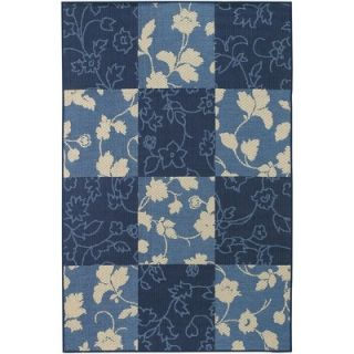 Chandra Rugs Plaza Blue Floral Rug   PLA10401