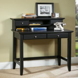 Home Styles Bedford Student Desk and Hutch Set with 2 Drawers on Desk