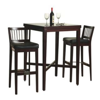 Home Styles 3 Piece Pub Table Set in Cherry Finish   5987 358