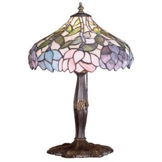 Meyda Tiffany Tiffany Floral Art Glass Wisteria Accent Lamp