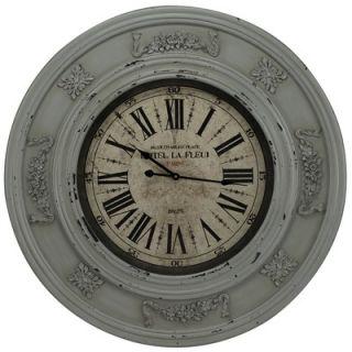 Cooper Classics Randolph Wall Clock in Distressed Light Blue