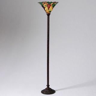 Warehouse of Tiffany Grape Torchiere Lamp   3884+BB75B