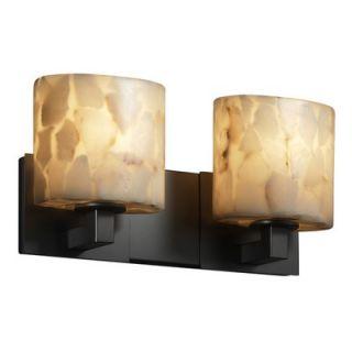 Justice Design Group Alabaster Rocks Modular Two Light Bath Vanity