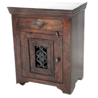 Meva Furniture Mirage Jali 1 Drawer Nightstand   26014001