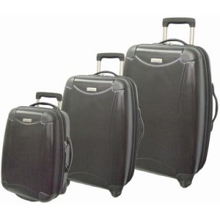 McBrine Luggage Eco friendly ABS Hardsided 3 Piece Spinner Luggage Set