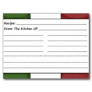 Cute Chef Blank Recipe Cards Postcard
