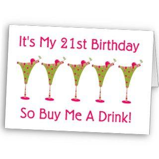 21st Birthday Cards, 21st Birthday Card Designs