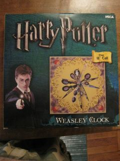 ROWLINGS HARRY POTTER WEASLEY FAMILY CLOCK NECA BRAND NEW RARE NIB