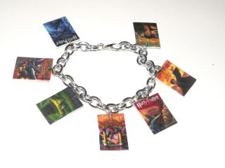 Harry Potter Book Covers Wizard Charm Bracelet Wizard Handmade Plastic