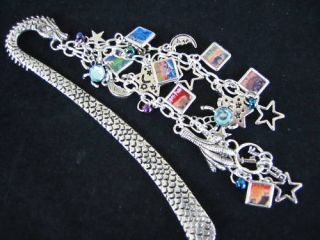 Bookmark Harry Potter with Bracelet Style Charms All Seven Book Covers