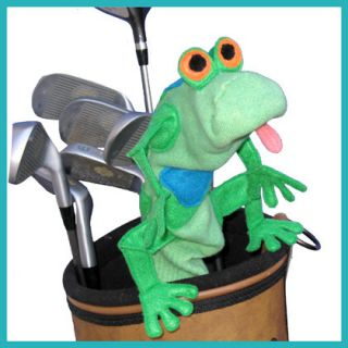 Designer Golf Club Head Cover Frog Handmade in USA