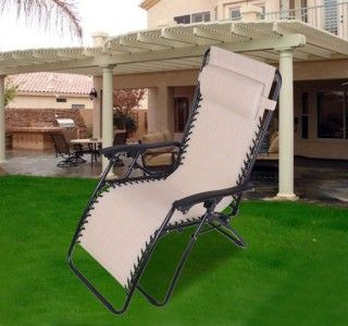 New Zero Gravity Lounge Chair Foldable Outdoor Patio Garden Recliner