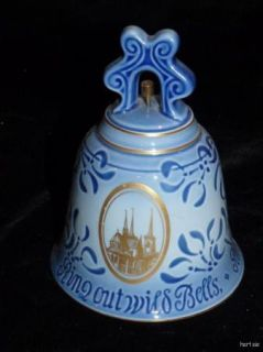 First Edition Bing & Grondahl Christmas Bell 1974 Roskilde Cathedral
