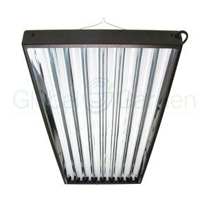 T5 8 Bulb Grow Light Reflector for Greenhouse Indoor Gardens