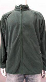 Greg Norman Mens L Fleece Athletic Jacket Green Ribbed Coat Designer
