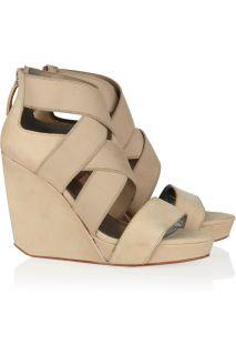 DKNY Jennifer suede wedge sandals   59% Off