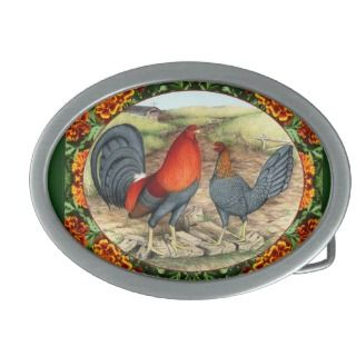 Beautiful Game Fowl Belt Buckles