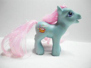 My Little Pony Piccolo Action Figure Hasbro Toy Horse G3 Glitter Pony
