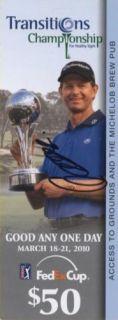 PGA Tour Golf Admission Ticket Signed by Retief Goosen