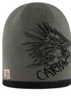 Carhartt Smoke Gray Screaming Eagle Sock Watch Cap Hat Beanie New A317