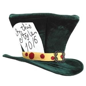 Alice in Wonderland Mad Hatter Classic Top Hat Licensed