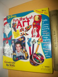 SET Craft Kit KID Activity NIP Fun Start At Art MAGNET Frame PUPPET