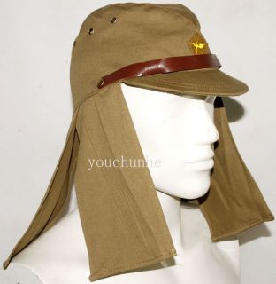 JAPANESE ARMY IJA EM NCO FIELD CAP HAT WITH HAVELOCK NECK FLAP L 32146