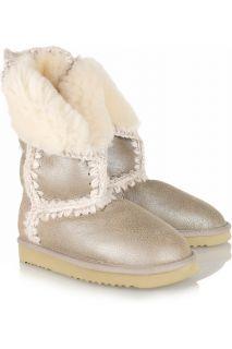 Mou Montana metallic shearling boots