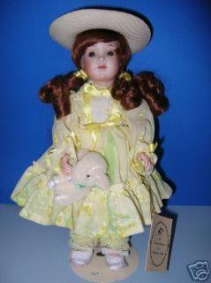 "Heirloom Dolls ""Mary Had A Little Lamb"" Porcelain"